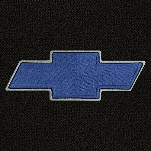 Lloyd Mats - Classic Loop Black Front Floor Mats For Chevrolet C30 Pickup with Bowtie Blue Logo
