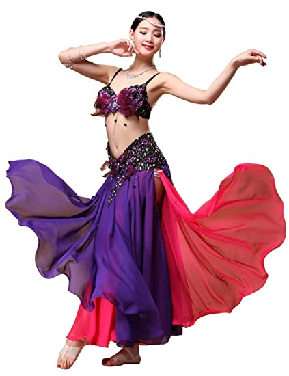 Grouptap Falda de Vestido Sexy de Color Rojo púrpura Tribal ...