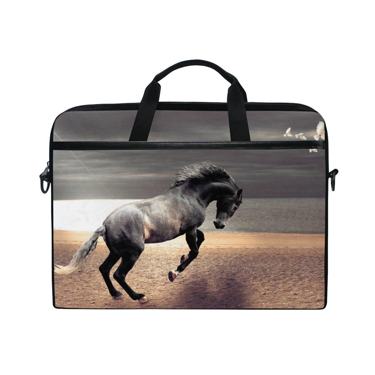 best AHOMY Horse Lake Water Sky 15 Inch Laptop Shoulder Sleeve Messenger Bag Case
