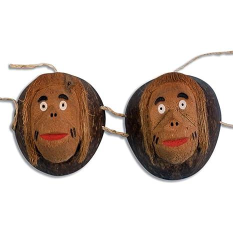 Forum Novelties Coconut Monkey Costume Bra Adult Standard