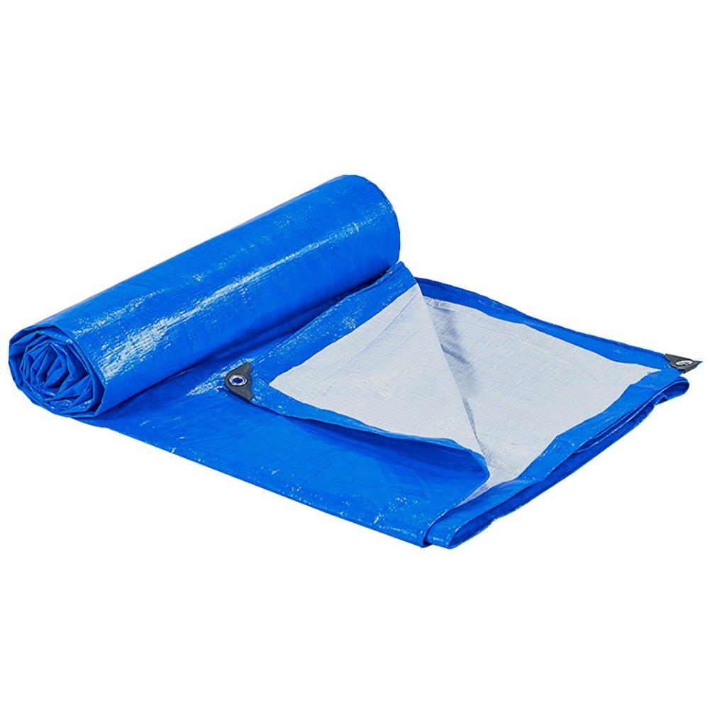 GUOWEI-pengbu ターポリン シェード布 カバー 日焼け止め 防水 老化防止 低温抵抗 ポリエチレンプラスチック 18サイズ (色 : Blue, サイズ さいず : 3.7x5.7m) B07FVVRSG8 3.7x5.7m Blue Blue 3.7x5.7m