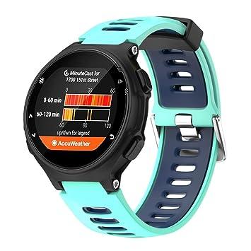 Correa de repuesto para reloj Garmin Forerunner 735XT, Y56 de silicona de instalación rápida,