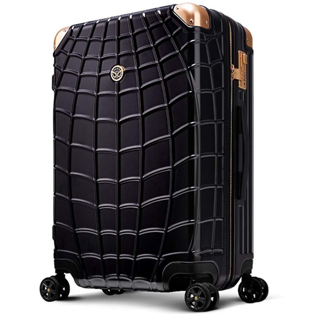 旅のセレクトショップ!MARVEL SPIDERMAN スーツケース キャリーバッグ キャリーケース 黒 軽量 ファスナータイプ TSAロック搭載 3サイズ マーベル スパイダーマン B07BBCPQMQ  M