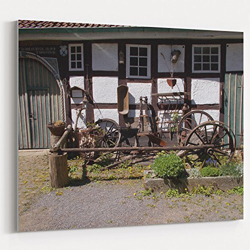 Westlake Art - Vehicle Wagon - 16x20 Canvas Print Wall Art - Canvas Stretched Gallery Wrap Modern Picture Photography Artwork - Ready to Hang 16x20 Inch (Pottery Wagon Wheel)