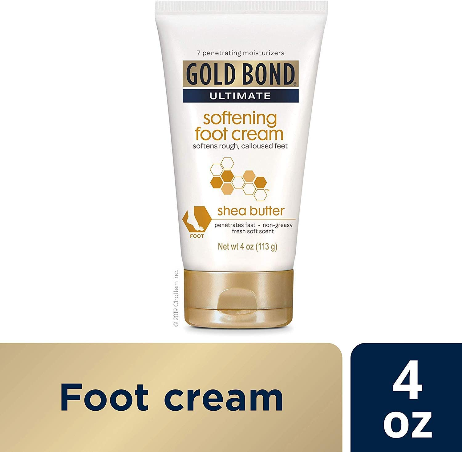 Gold Bond Ultimate Softening Foot Cream With Shea Butter - 4 Ounce Pack of 3
