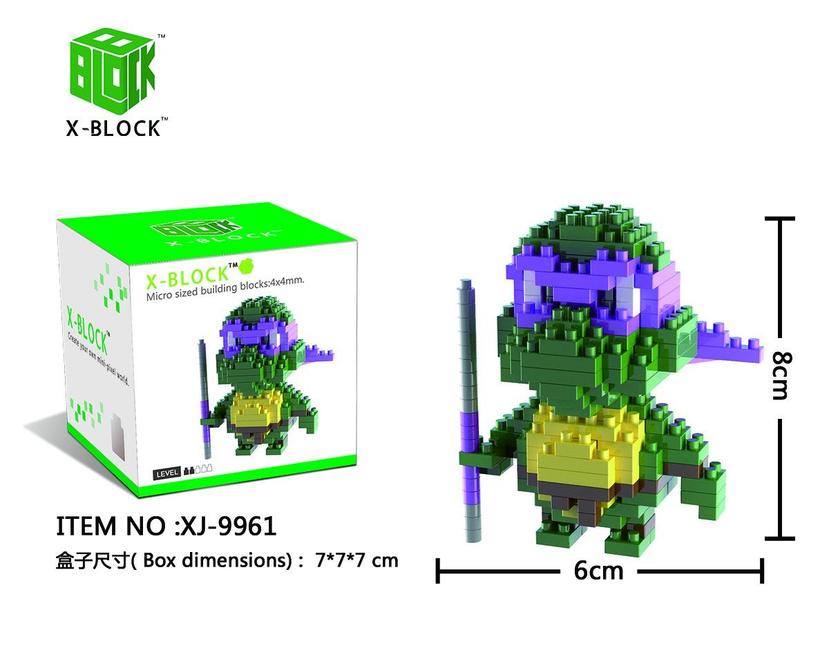XJ9961 TORTUGA DISFRAZ NINJA COLOR LILA X-BLOCK: Amazon.es ...