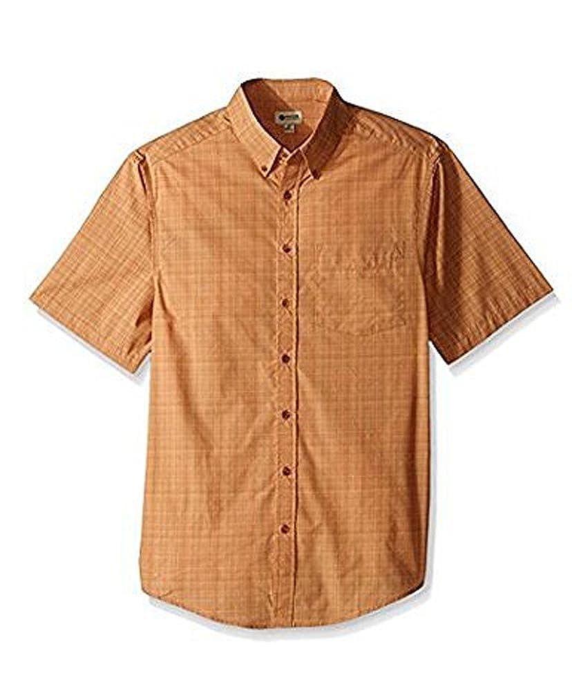 Haggar Mens Button Down-Short Sleeve Shirt