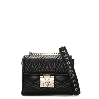 350090b6408d Daniel Lucy Black Quilted Cross-Body Bag Black Leather  Amazon.co.uk ...