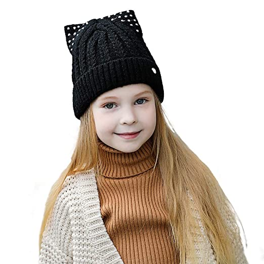 3f767665247 B.J Kids Ages 2-7 Warm Chunky Thick Stretchy Knit Slouch Beanie Boys Girls  Skull