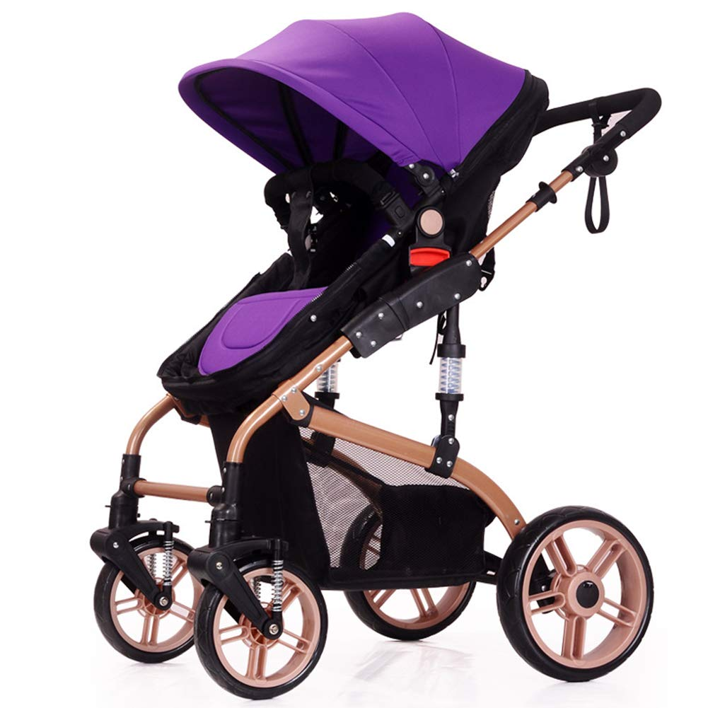 Baby Pram, High Landscape Baby Stroller can sit and Lie Down Two-Way Toddler Pushchair for Babies 0-3 Years Old by WYX-Stroller (Image #7)