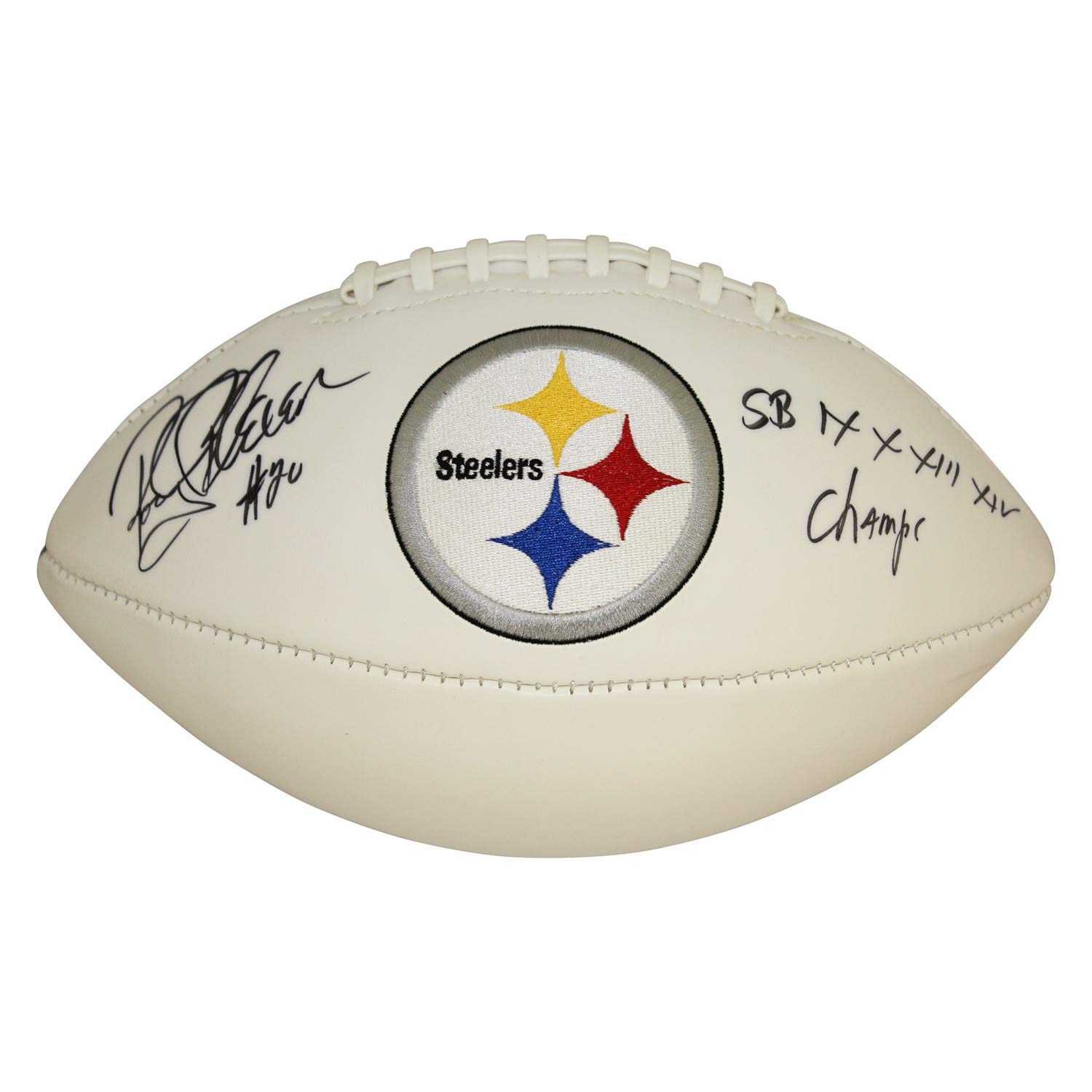 Rocky Bleier Pittsburgh Steelers Autographed Signed White Panel Logo Football - JSA Authentic