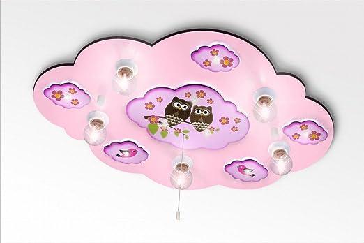 Kinderlampe Deckenlampe in Wolkenform Mond mit Sternchen mit ... | {Kinderzimmerlampe 5}