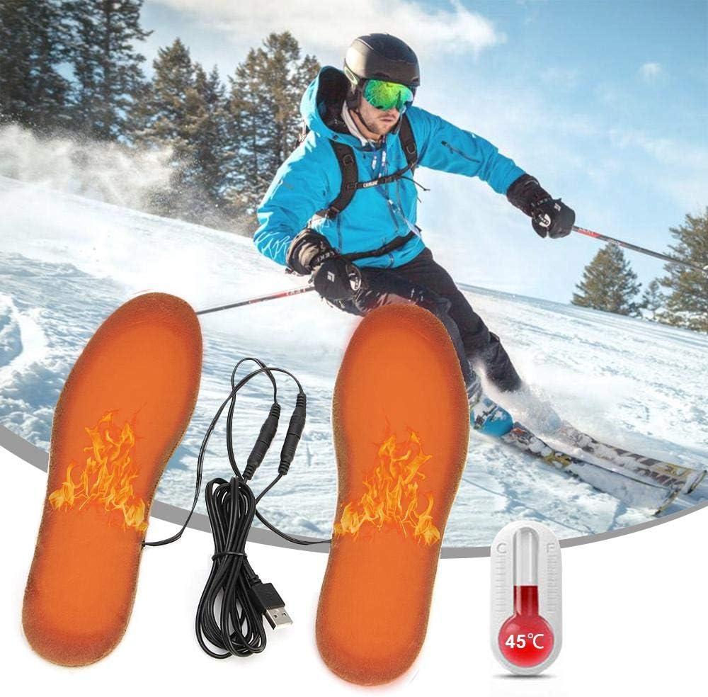 leegoal Beheizbare Einlegesohlen USB Schuhheizung Sohlenw/ärmer elektrisch Thermosohlen f/ür M/änner und Frauen