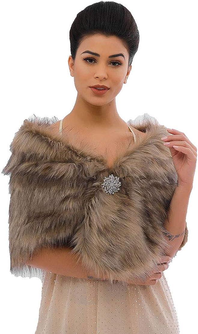 Drecode Sleeveless Faux Fur...