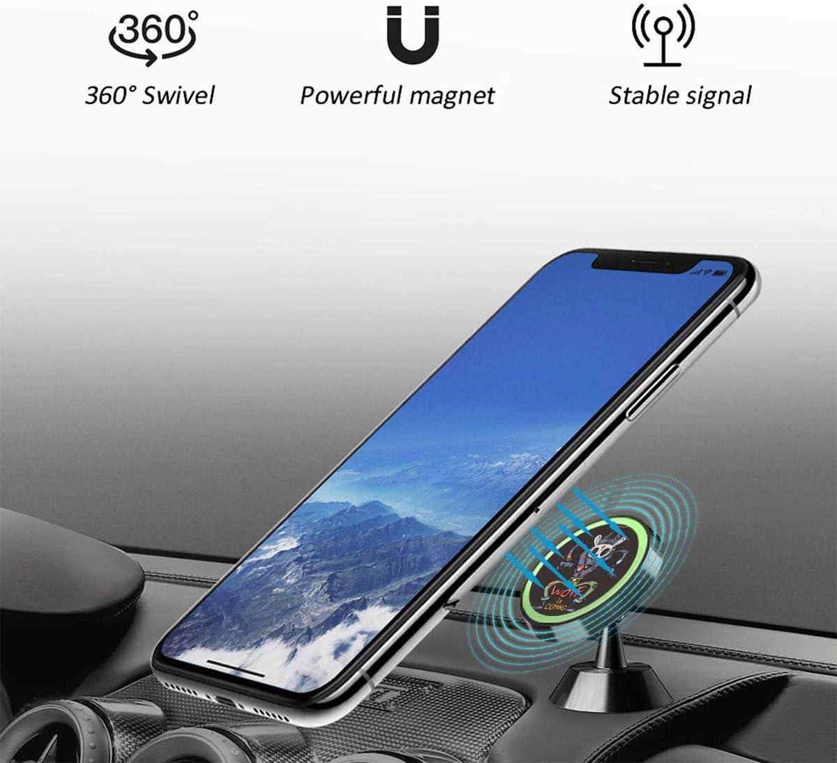 XCOZU Soporte magnético para teléfono Celular, diseño de Lobo gángster de Dibujos Animados, Soporte para teléfono de Coche Giratorio de 360 Grados, Compatible con Todos los Smartphones: Amazon.es: Electrónica