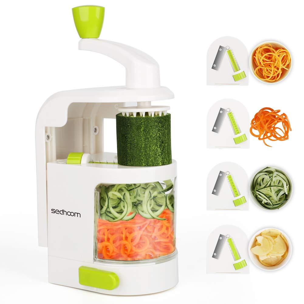 Sedhoom spiralizzatore/Affettatrice di verdure verticale con 4 lame