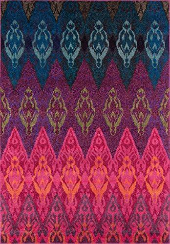 Momeni Rugs Casa Collection, Soft Blend Contemporary Area Rug, 9 3 x 13 6 , Multicolor