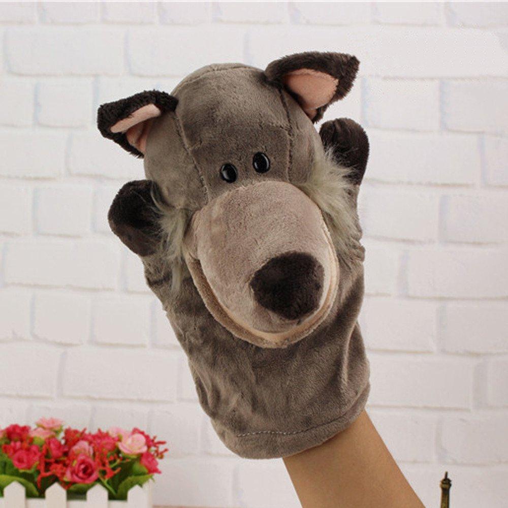 bonitos dibujos animados Mu/ñeca de animales juguete de peluche mu/ñeco de animales marioneta guante de mano contador de historias Multicolor suave TianranRT