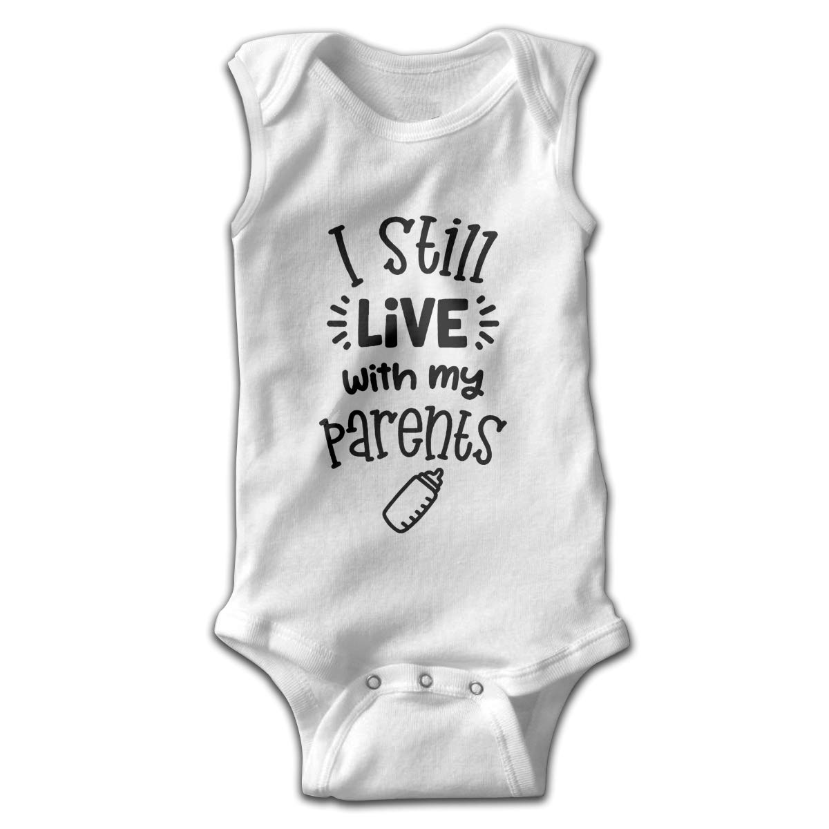 I Still Live with My Parents Infant Baby Clothes Onesie Sleeveless Summer Novelty Funny Gift for Baby