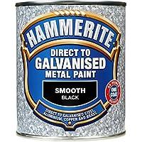 Hammerite Direct To Galvanised Metal Paint 750ml Black by Hammerite