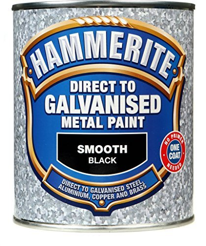 Hammerite Direct To Galvanised Metal Paint 750ml Black by ()