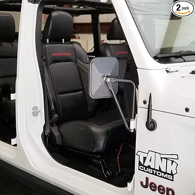 NYZAUTO Adventure Side View Mirrors Doors off Mirror Compatible with Jeep Wrangler TJ JK JL /& Unlimited