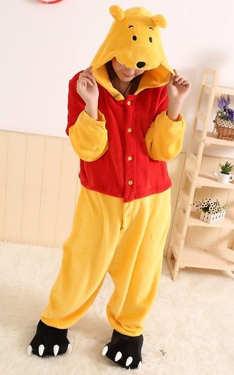 120fc1274a45 Winnie the pooh characters Unisex Onesie Fancy Dress Costume Hoodies Pajama  (Winnie the Pooh