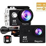 Bagotte Action Cam, Sport Action Kamera 4K Ultra FHD 1080P Unterwasserkamera mit WiFi Fernbedienung Ausgabe,zum Schwimmen,Klettern,Tauchen
