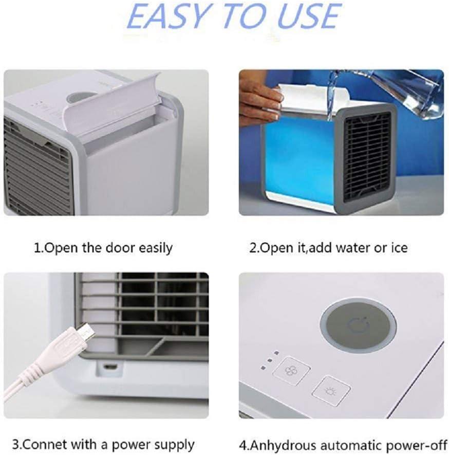 Mini Air Luftkühler Klimageräte Klimaanlage Luftkühler Befeuchter Ventilator Neu