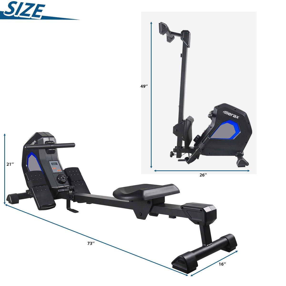 Merax Magnetic Exercise Rower Adjustable Resistance Rowing Machine (BK) by Merax (Image #6)