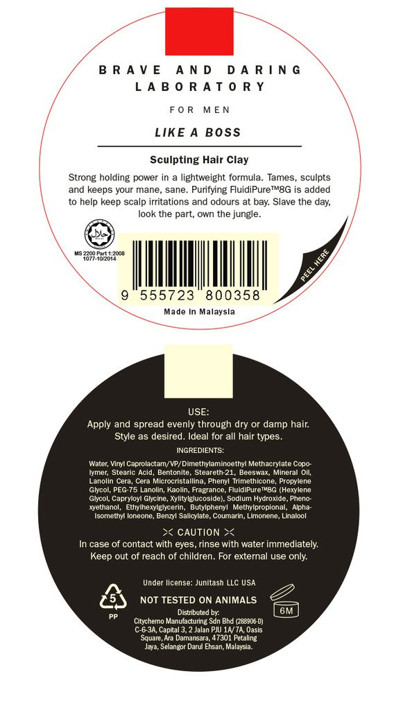 Bad Lab Like A Boss, Hair Clay for Men, Travel Size (1.76 oz) Strong H and Matte Stylish Finish by Bad Lab (Image #4)