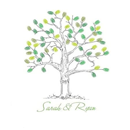 SwirlColor Alternative Guest Book Wedding Fingerprint Tree ...
