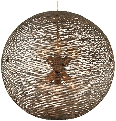 Flow 6-Light Orb Pendant – Hammered Ore Finish