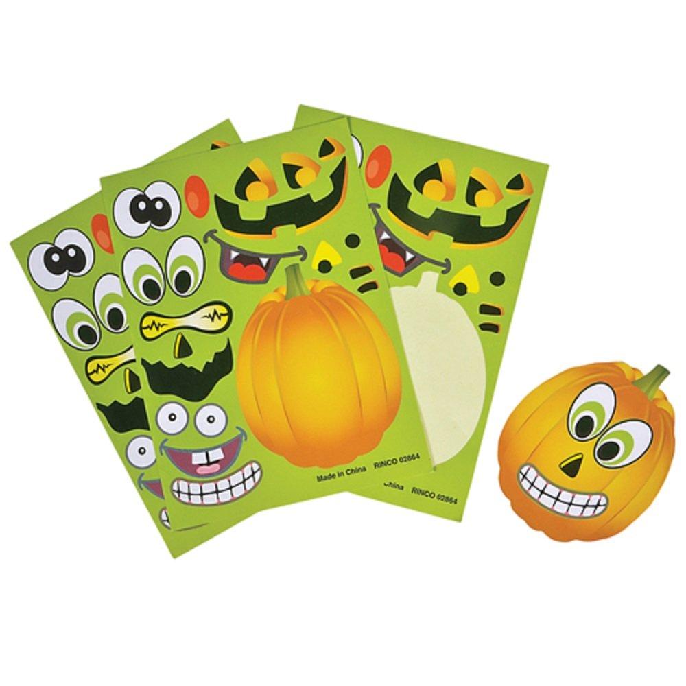 Make A Pumpkin Jack-O-Lantern Halloween Sticker Sheets 1 Dozen 2