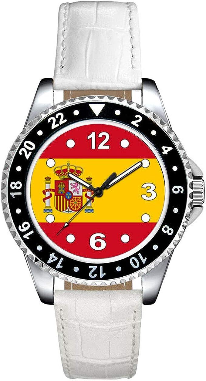 Timest - Bandera de España - Reloj para Mujer con Correa de Cuero ...