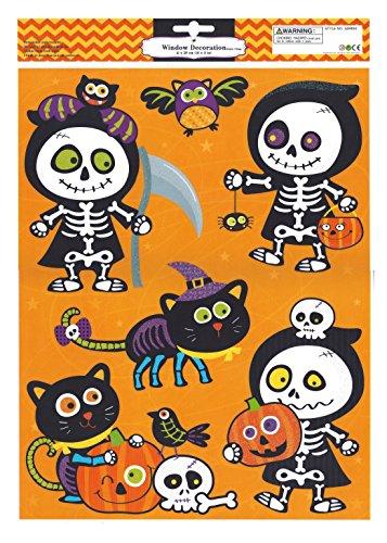 Hello Kitty Halloween Window Clings -