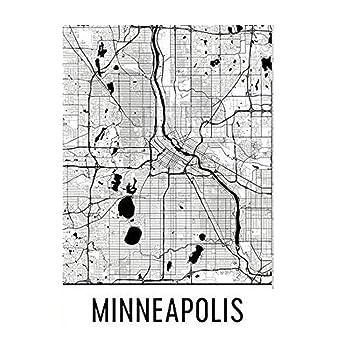 Modern Map Art Regalo tarjeta para ti, para él, para los ...