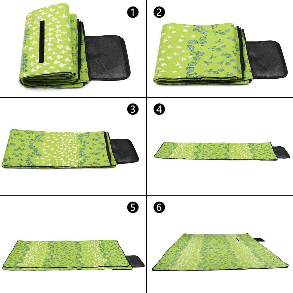 SKYSPER Coperta Picnic Impermeabile 200 180 CM Tappeto Campeggio Portabile in Panno Oxford per Giardino Spiaggia Campeggio Sport Yoga