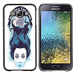 Jordan Colourful Shop - FOR Samsung Galaxy E5 E500 - waiting for you - Personalizado negro cubierta de la caja de pl??stico