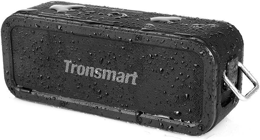 Tronsmart - Altavoz Bluetooth impermeable de 40 W, altavoz inalámbrico portátil, resistente al agua IPX7, efectos Tri-Bass, TWS y NFC, tiempo de reproducción de 15 horas para smartphone, ordenador
