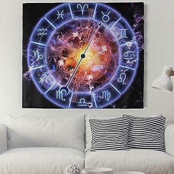 Horóscopo Astrología zodiaco tapiz hippie bohemio pared adornos pared toalla pared de tapiz mantel Toalla de playa 150 x 130 cm: Amazon.es: Hogar