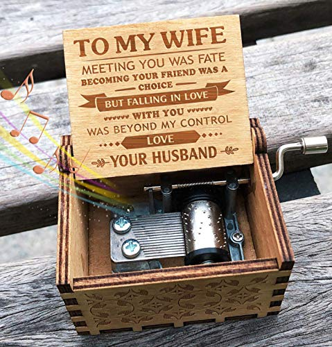 Engraved Music Box - You are My Sunshine, Best Gift for Your Wife - Falling In Love With You
