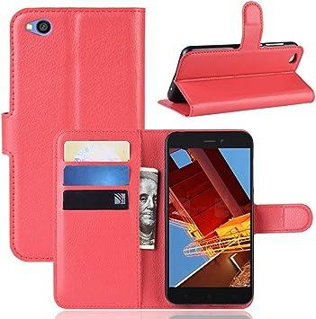 MISKQ Funda para Xiaomi Redmi Go/Xiaomi Redmi Go,Funda con diseño de Cartera,Estuche para el teléfono Anti caída,Estuche de Silicona(roja): Amazon.es: Electrónica