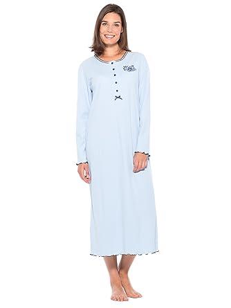 a92285897cf36 Lingerelle - Chemise de Nuit Longue, Manches Longues, Femme: Amazon.fr:  Vêtements et accessoires