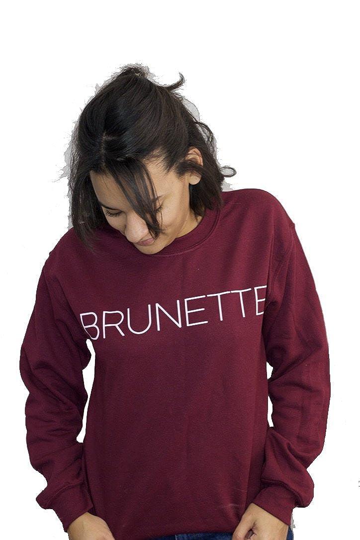 ValDesigns Brunette Unisex Sweatshirt with Print on The Front