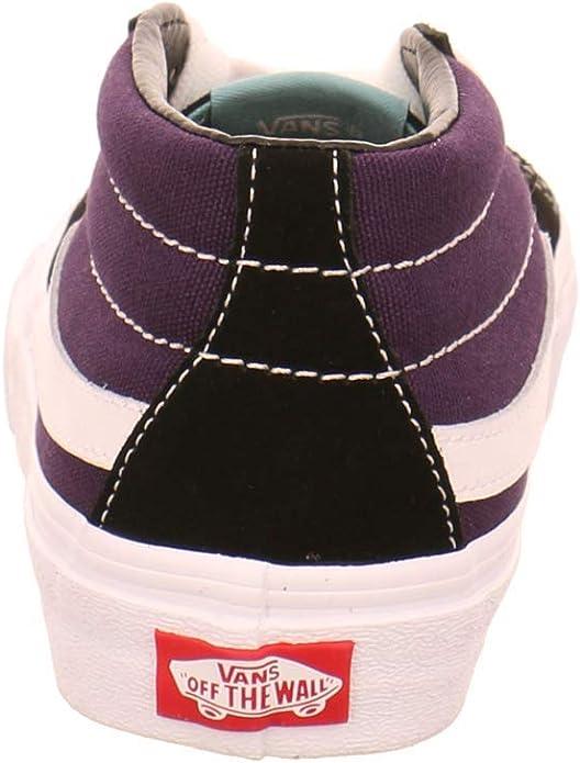 Vans Sk8 Mid Chaussures Noir NoirLilas, 36 EU EU