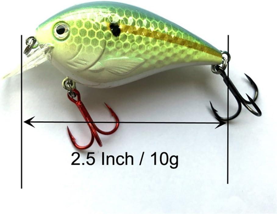 1pc BLUE CHARTREUSE 3//8oz Square Bill CRANKBAIT Bass Fishing Lures CrankBaits