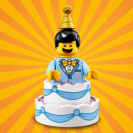 Excellent Lego Series 18 Birthday Cake Guy Minifigure 10 17 Bagged Funny Birthday Cards Online Aeocydamsfinfo