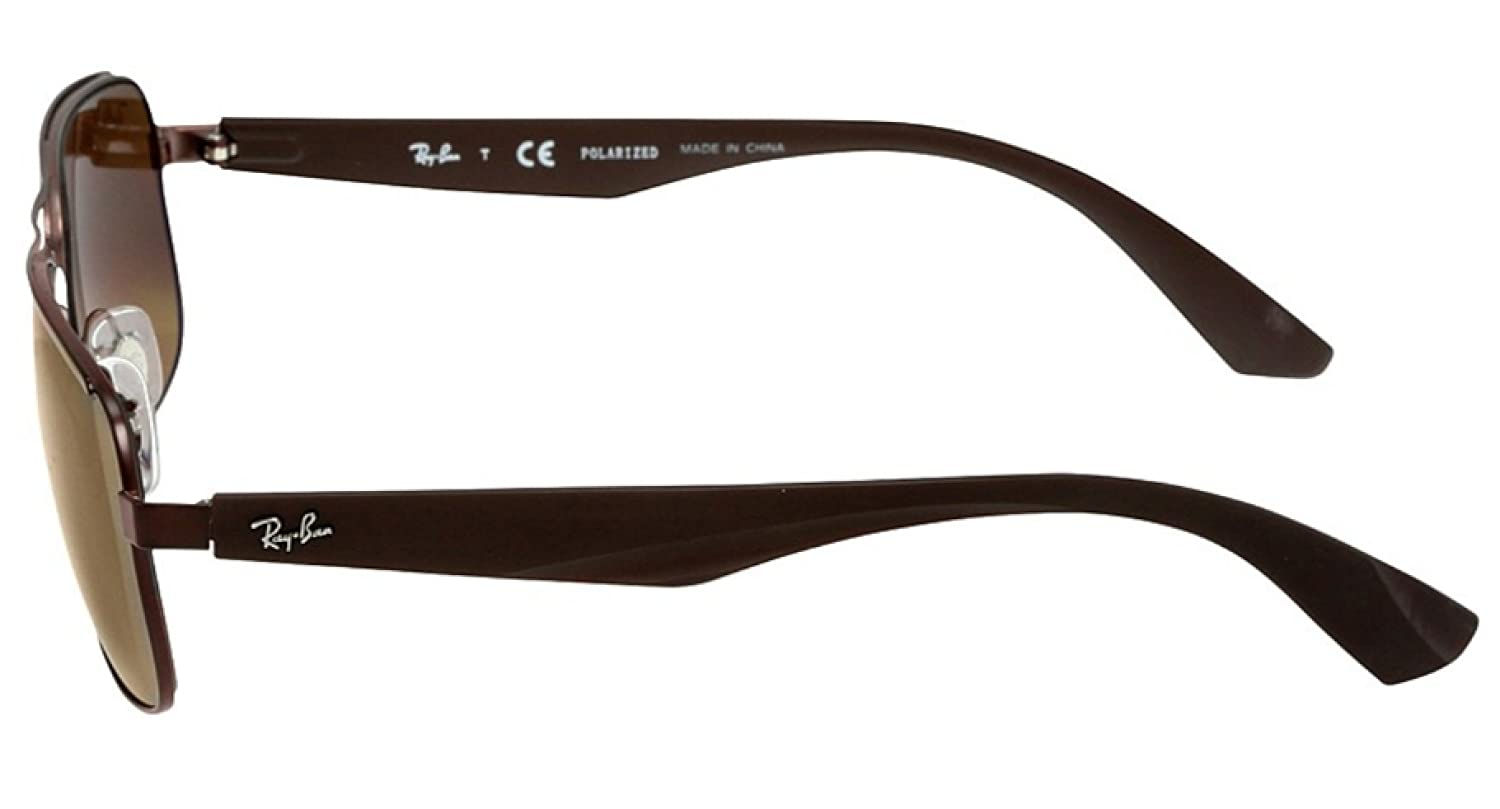 2f6ce9f320c Amazon.com  RAY-BAN RB3524 - 012 83 Sunglasses Matte Brown w  Polarized  Brown Lens 57mm   Ray-Ban  Shoes