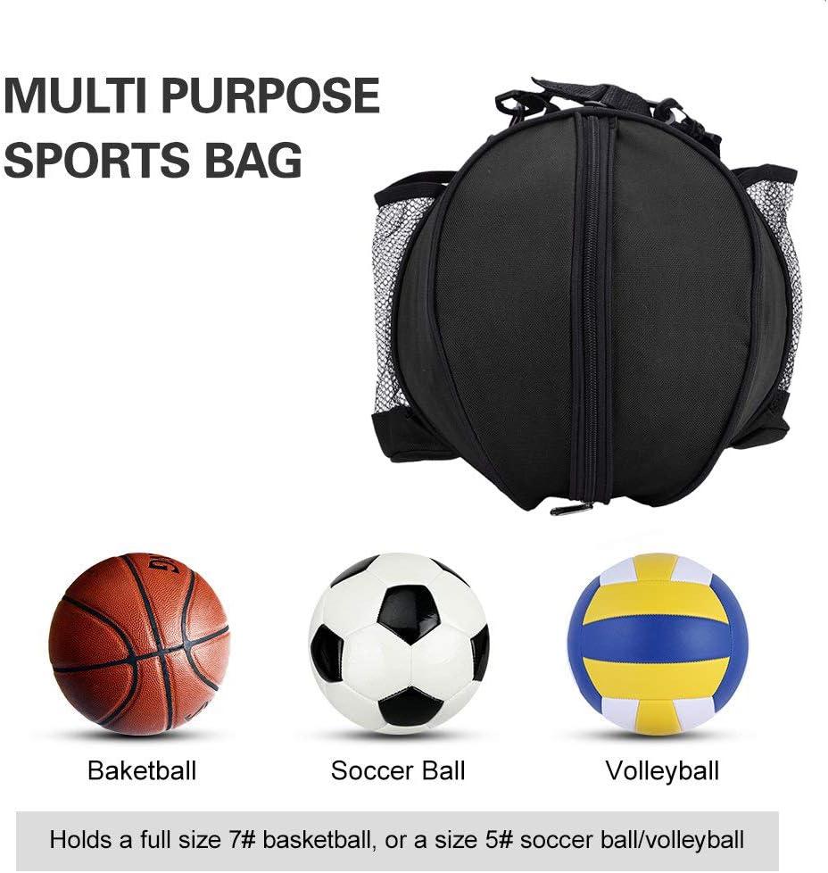 SGMY Bolsa de Baloncesto port/átil para Transportar balones de Voleibol de f/útbol Bolsa de Almacenamiento Equipo de Entrenamiento Bolsa de Hombro para Deportes al Aire Libre